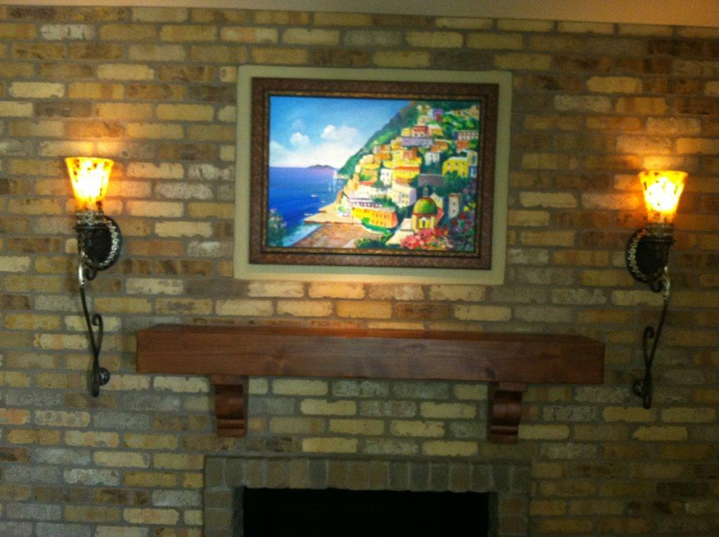 fireplace Mantel with painting 2