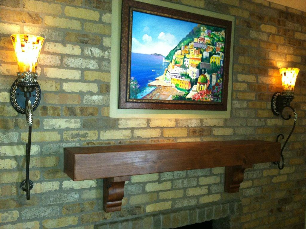 Mantel with painting