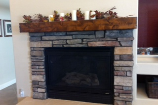 Fireplace Mantles And Beam Mantels In Arizona Made With Knotty Alder