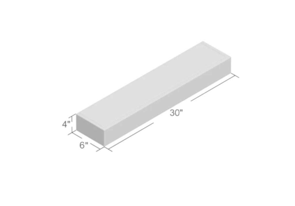 Floating wall shelf 4x6x30 large